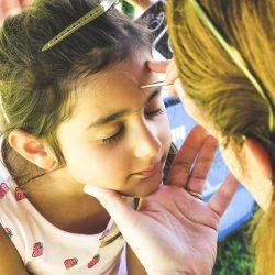 Kinderschminken beim Kinderfest